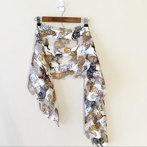 Accessories - Tabby Cat Print Neck Scarf